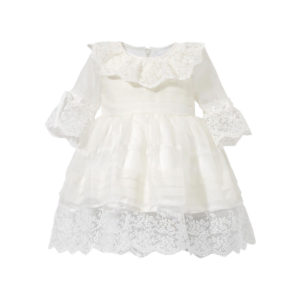 Biała Sukienka z koronki na chrzest Diana