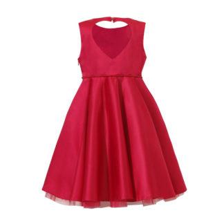 Czerwona sukienka z satyny