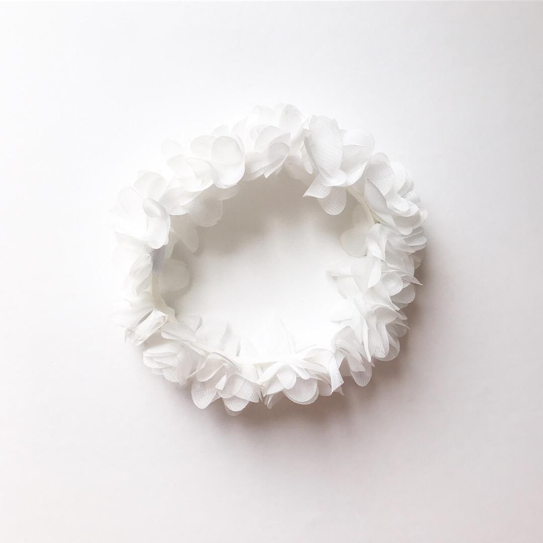 Biały Miękki Wianek - Sklep Petite Maison