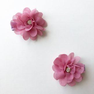 Spinki szyfonowe Ciemny Róż