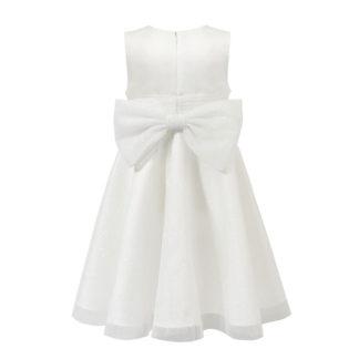 Biała sukienka z brokatowego tiulu