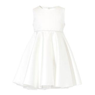 Biała sukienka z satyny