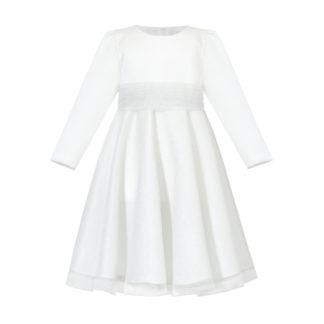 Biała sukienka na komunię świętą
