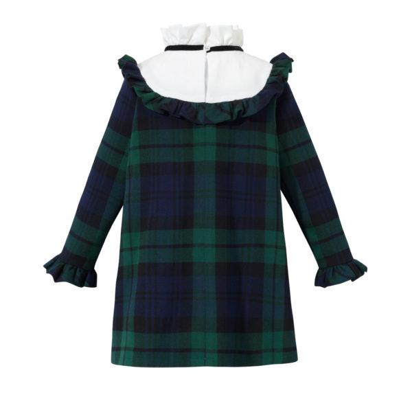 Sukienka dziewczęca w zielono czarną kratkę