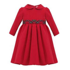 Czerwona świąteczna sukienka z długim rękawem Harper