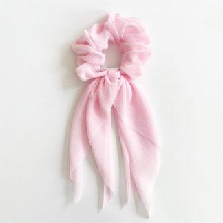 Gumka do włosów różowa szyfownowa