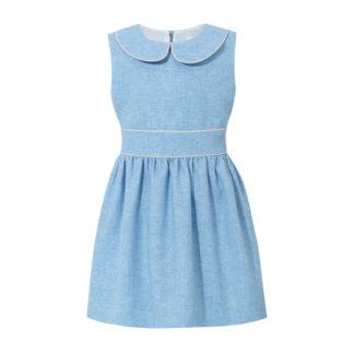 Niebieska sukienka dla dziewczynki w stylu Alicja z Krainy czarów