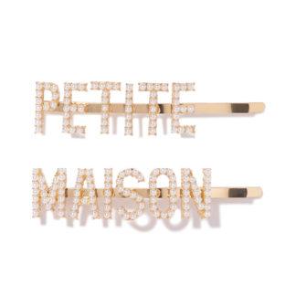 Wsuwki złote z perełkami Petite Maison spinki