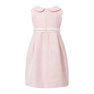 Sukienka Chanelka z perłami różowa