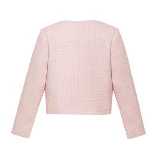 różowy żakiet dla dziewczynki w stylu chanel