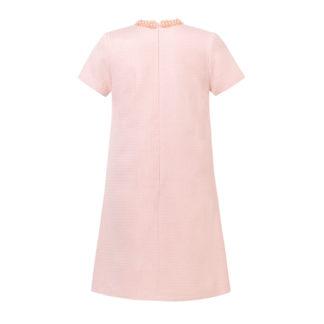 Sukienka różowa z perełkami