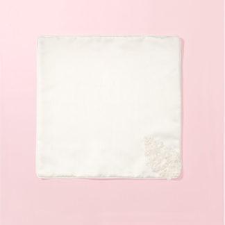 Szatka na chrzest biała z koronka i spersonalizowanym haftem Marceline